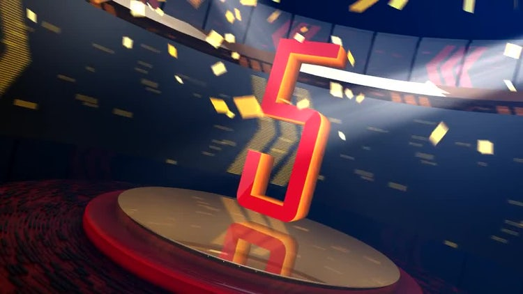 Energetic Sports Countdown: Stock Motion Graphics