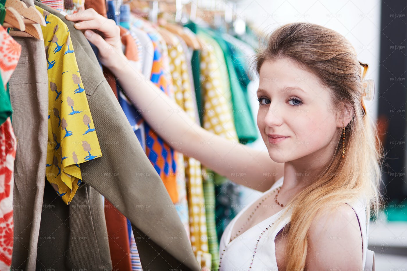 Shopping At Fashion Store: Stock Photos