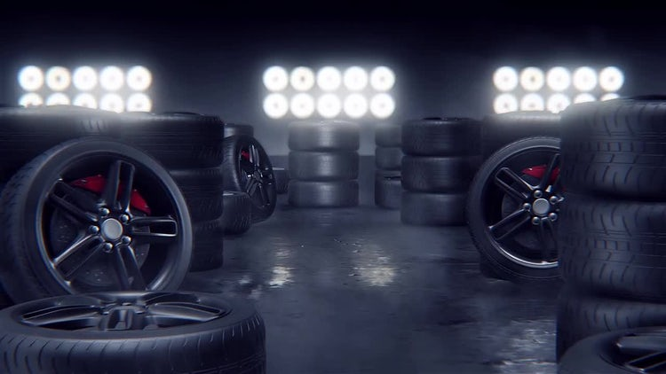 Sport Tires: Stock Motion Graphics