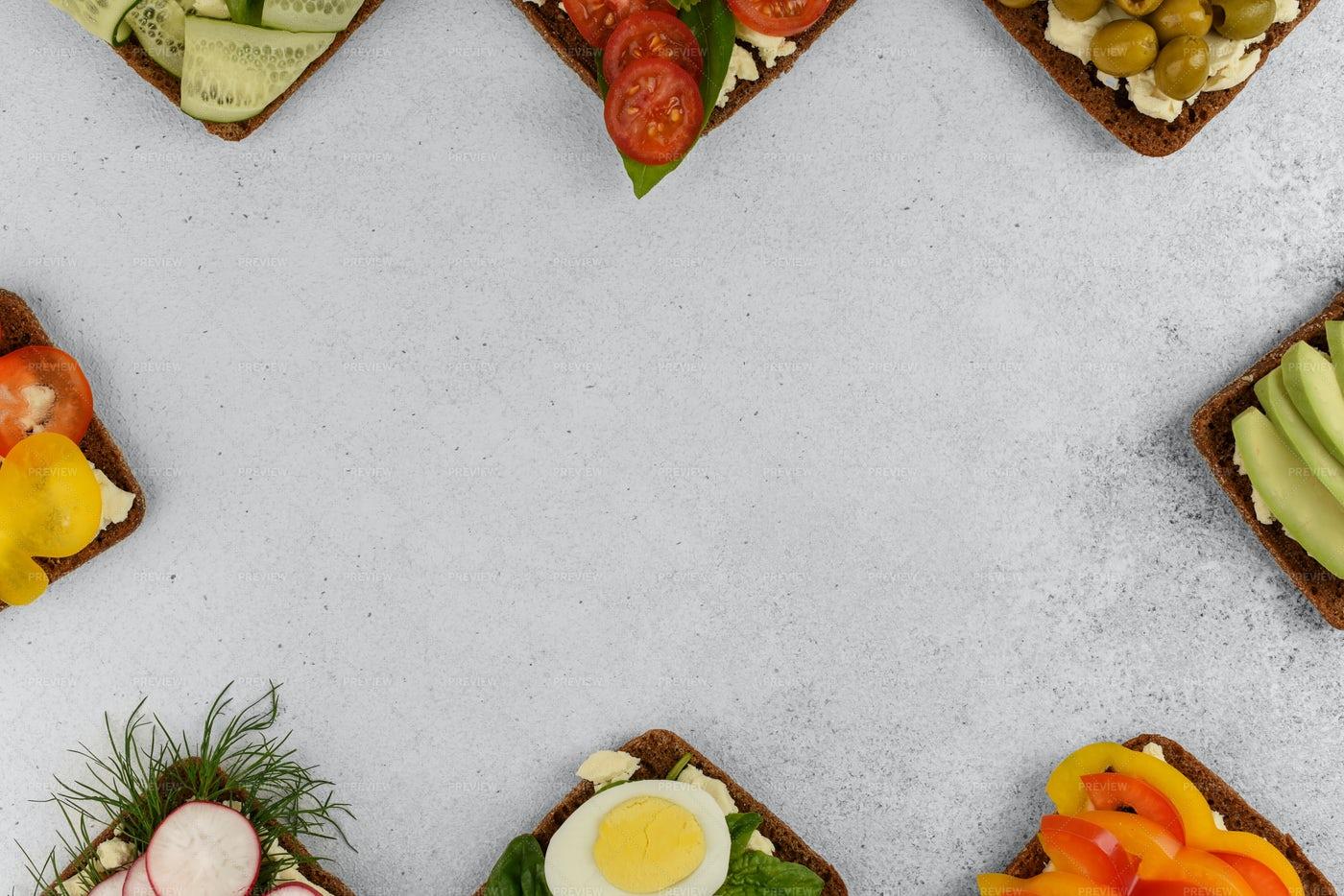 Open Sandwiches Frame: Stock Photos