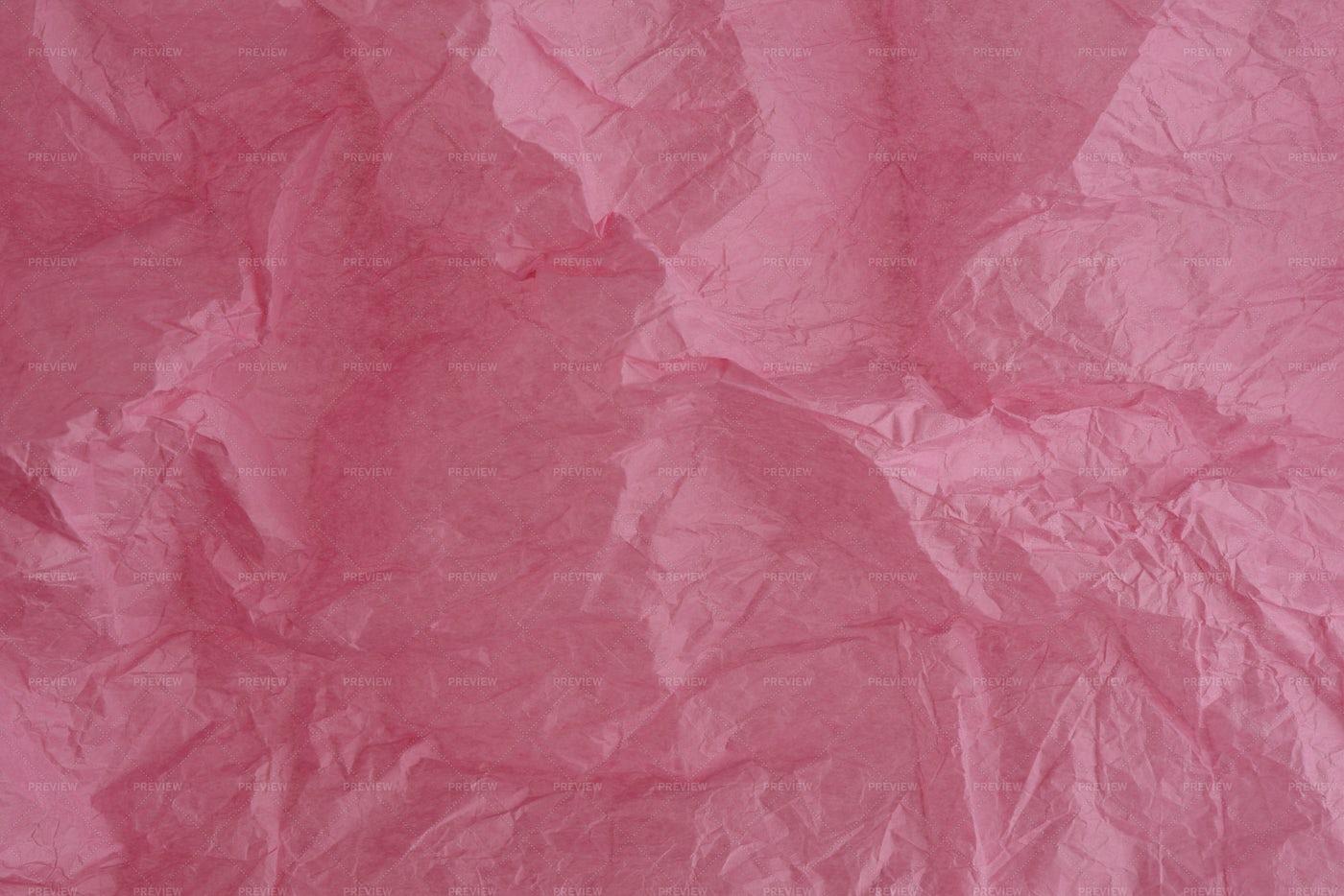 Crumpled Pink Silk Paper: Stock Photos