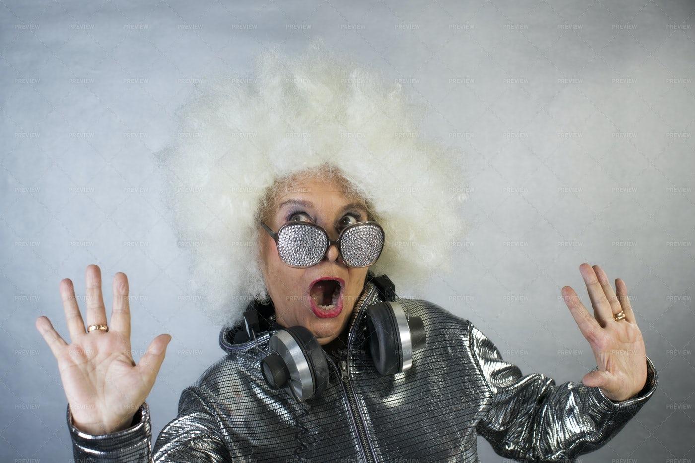 Grandma DJ: Stock Photos