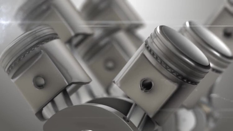 Close-up Of Engine Pistons: Motion Graphics