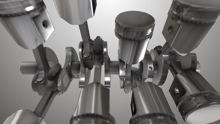 Close-up Of Engine Pistons: Stock Motion Graphics