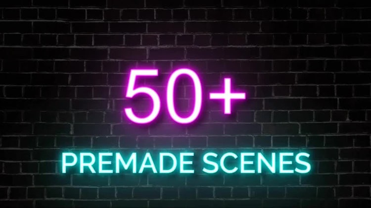 Neon Lights Big Pack: After Effects Templates