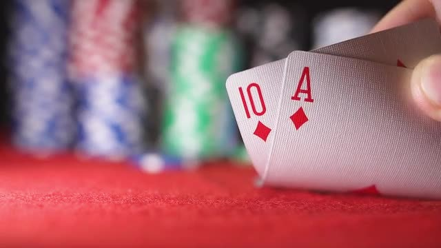 Poker game: Stock Video