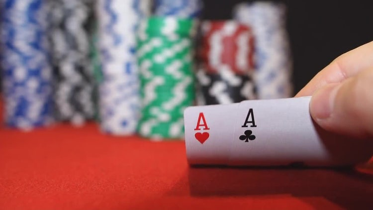 Poker Game - Pocket Aces: Stock Video