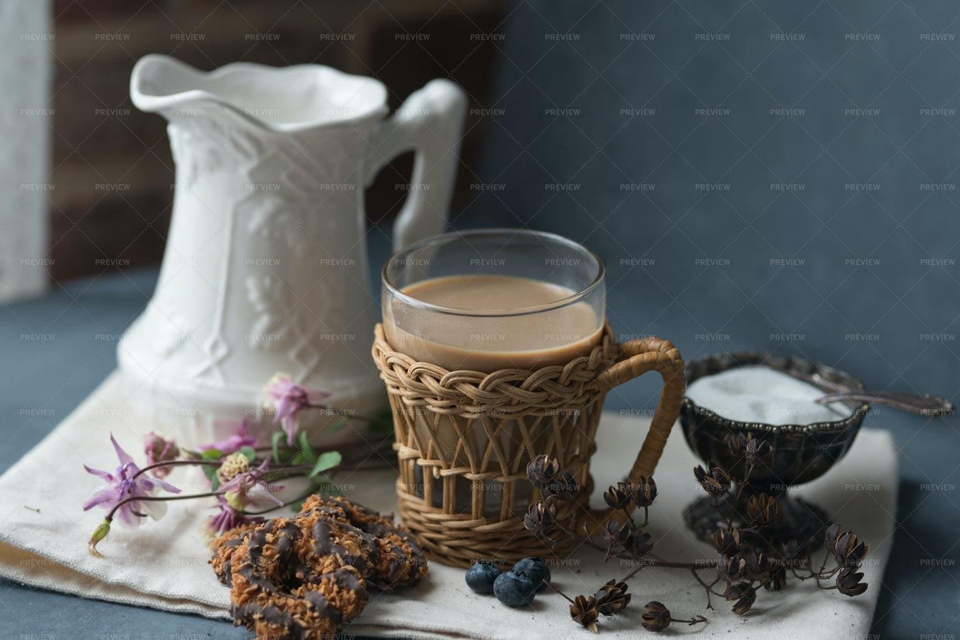 Coffee With Milk: Stock Photos