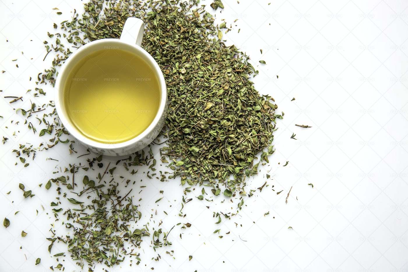 Cup Of Green Tea: Stock Photos