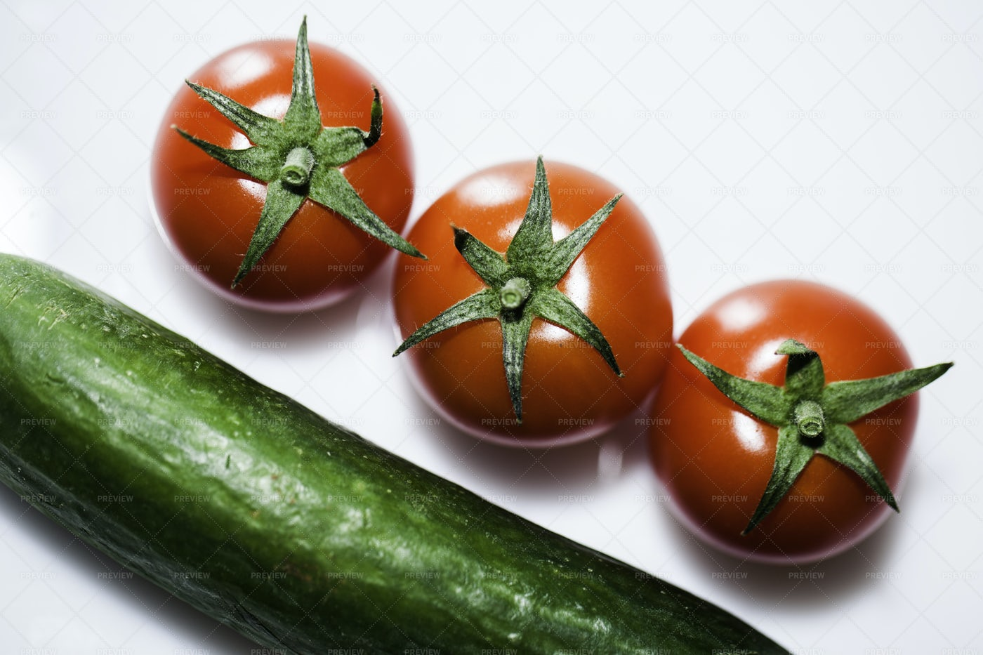 Cucumber And Tomatoes: Stock Photos