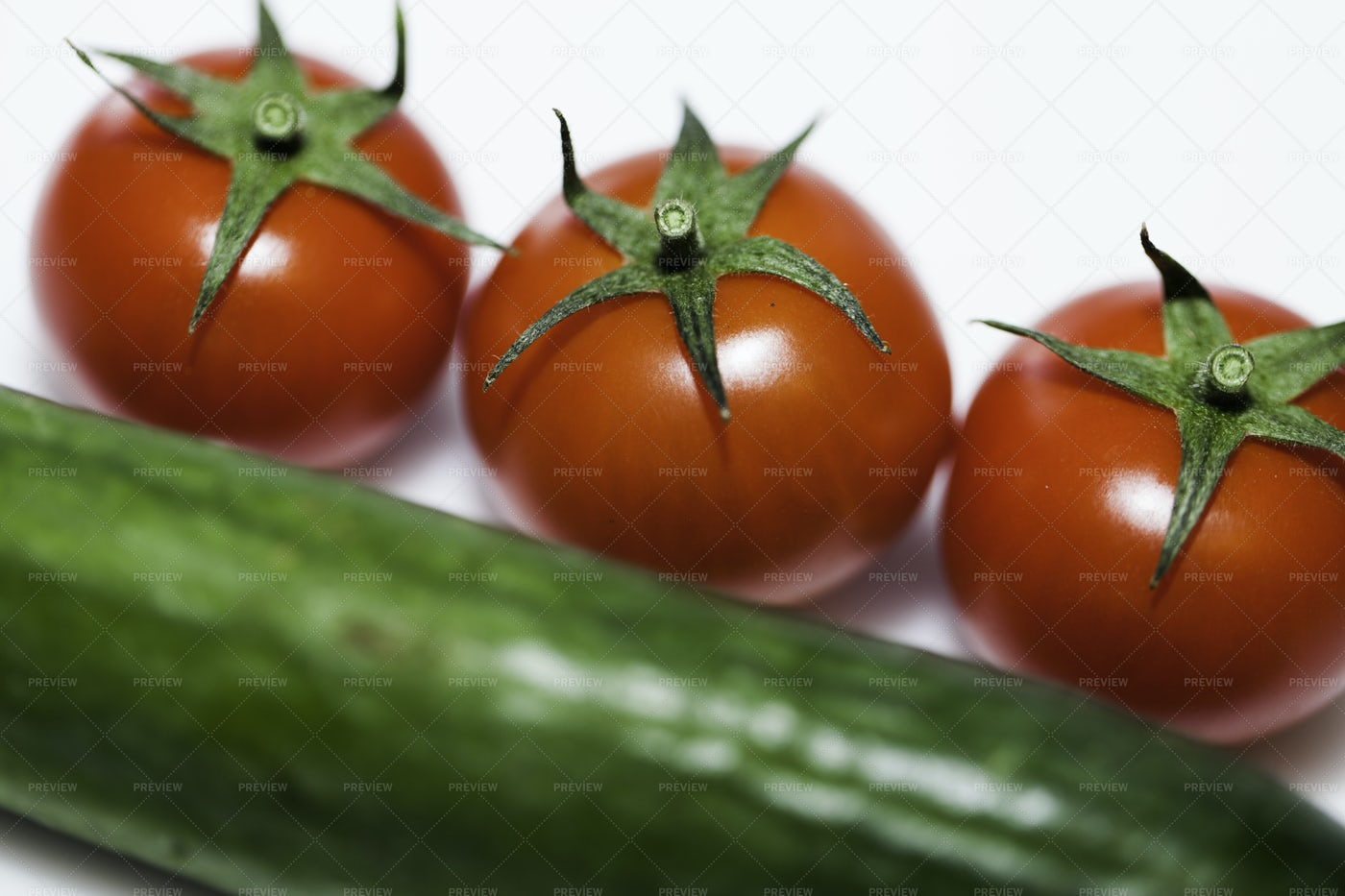 Tomatoes And Cucumber: Stock Photos