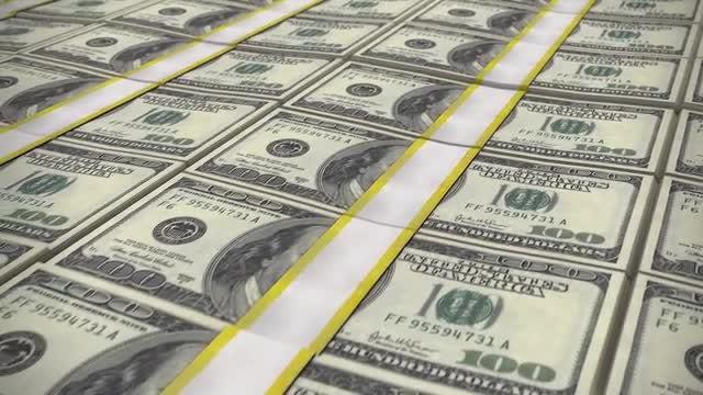 100 Dollar Bills: Stock Motion Graphics