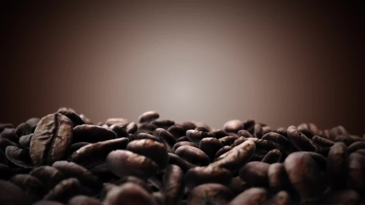 Brown Coffee Beans: Stock Motion Graphics
