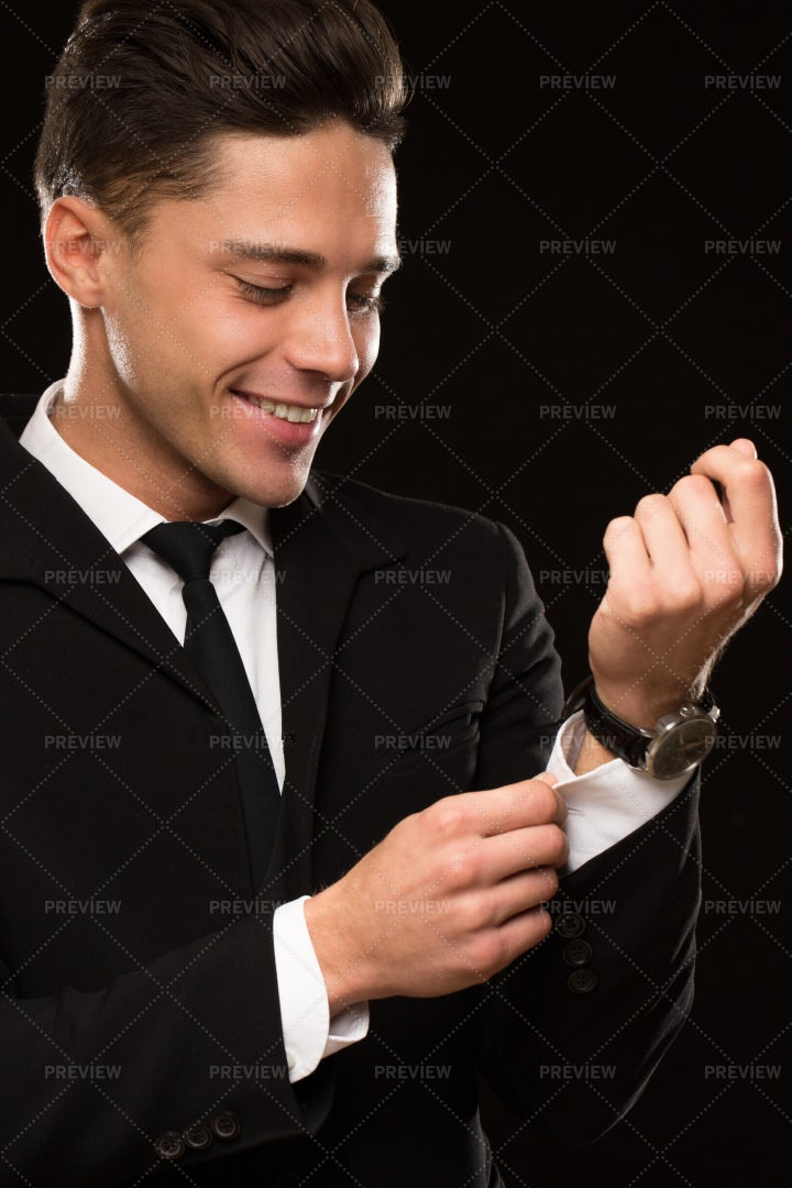 Smiling In A Suit: Stock Photos