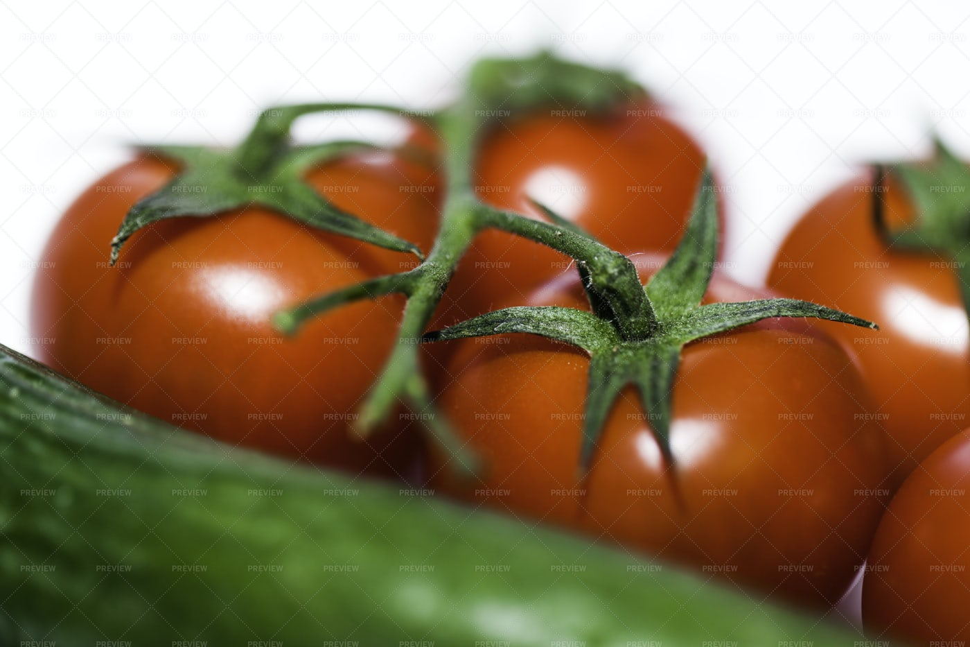Cherry Tomatoes And Cucumbers: Stock Photos
