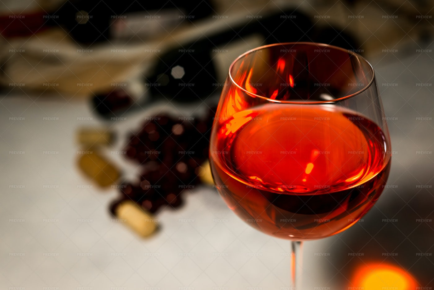 Glass Of Red Wine: Stock Photos
