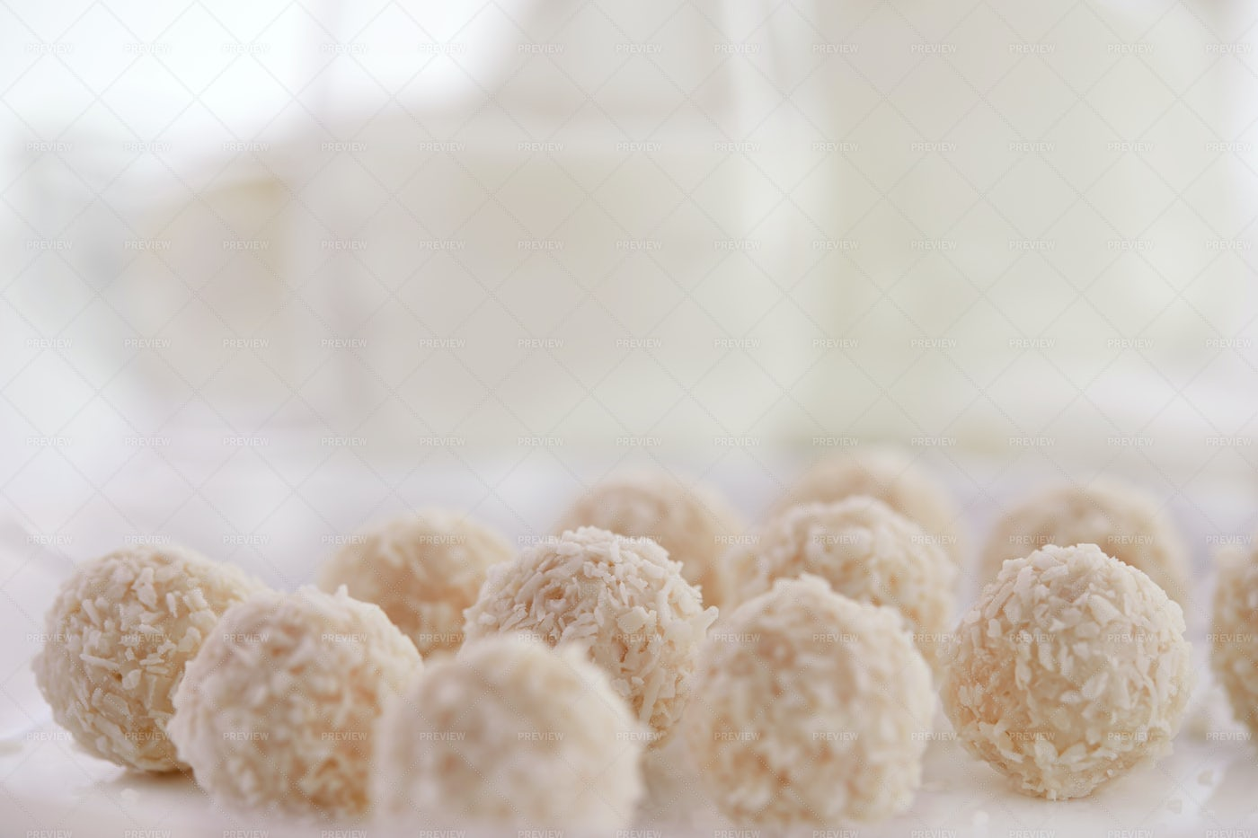 Candies With Coconut: Stock Photos