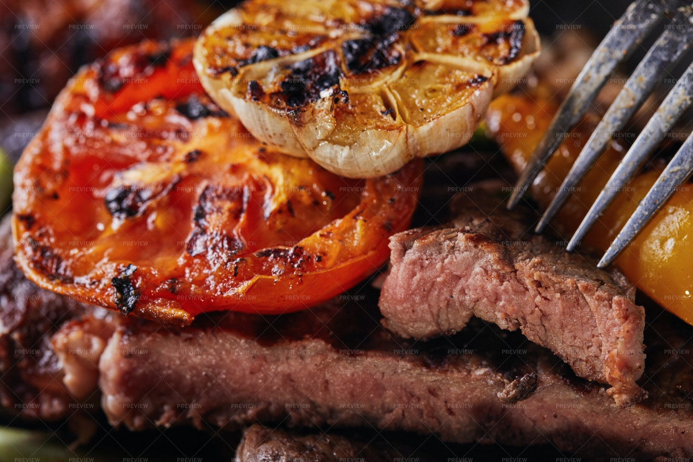 Grilled Beef Steak: Stock Photos