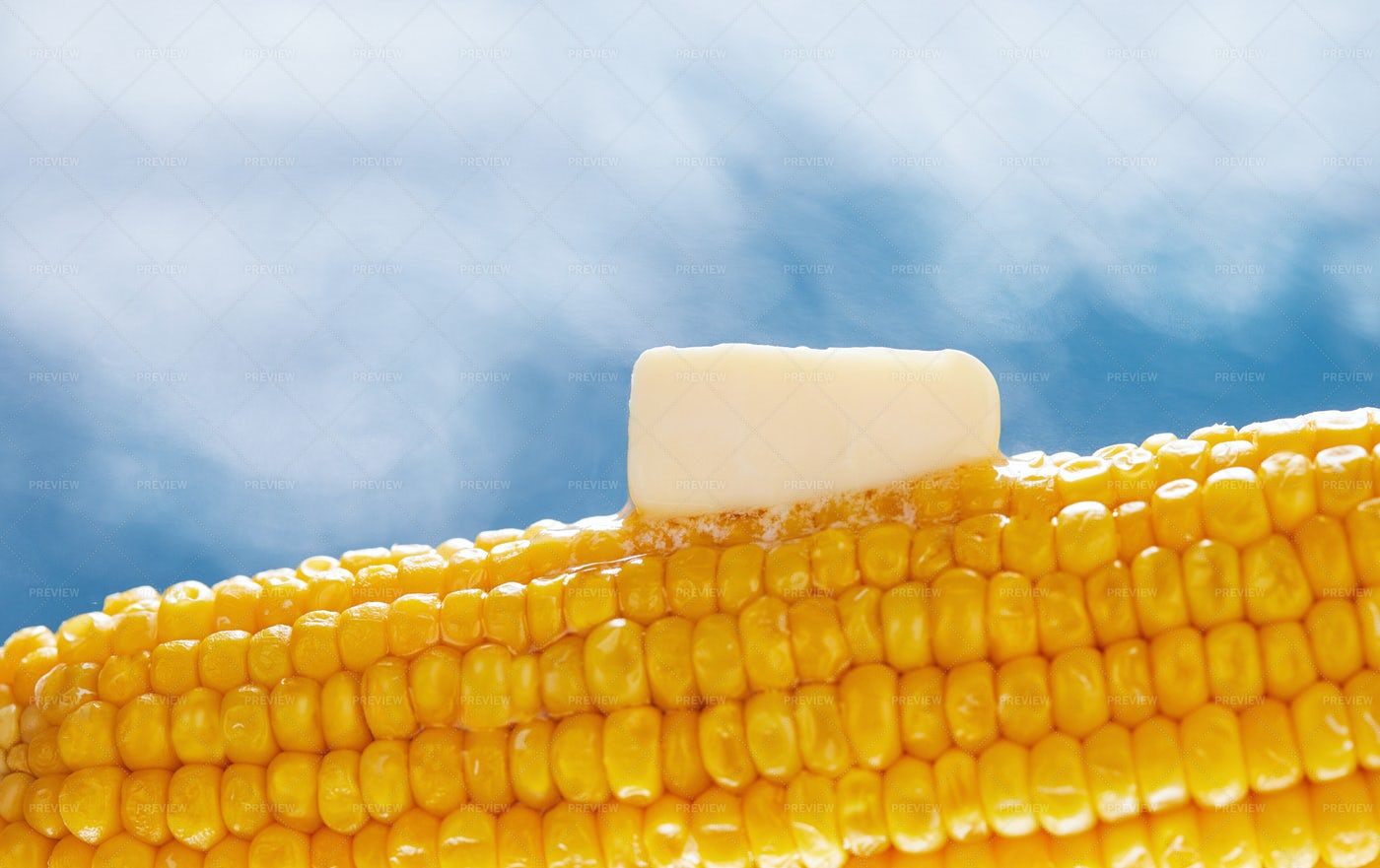Boiled Corn With Butter: Stock Photos