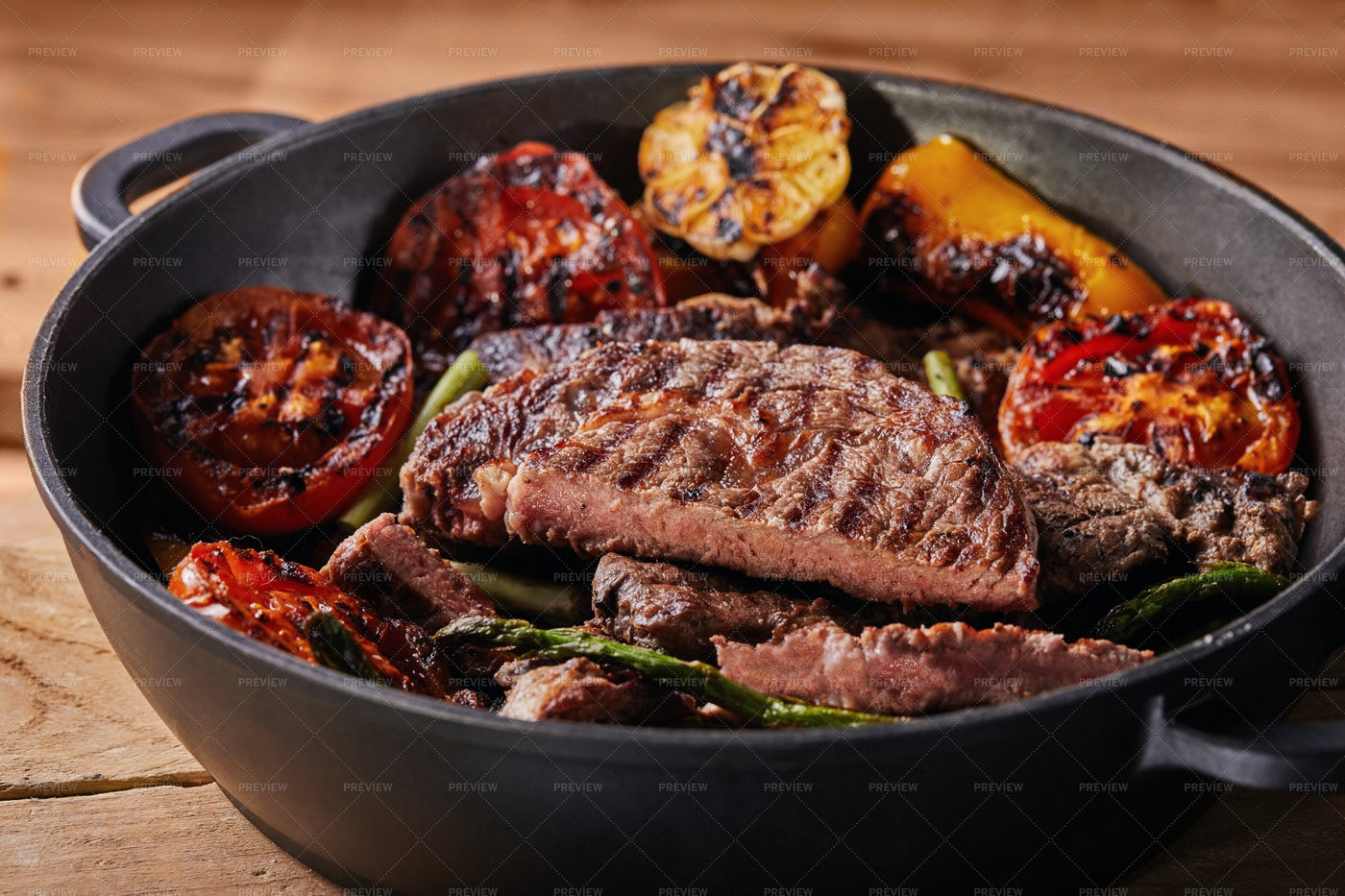 Beef Steak In A Pan: Stock Photos