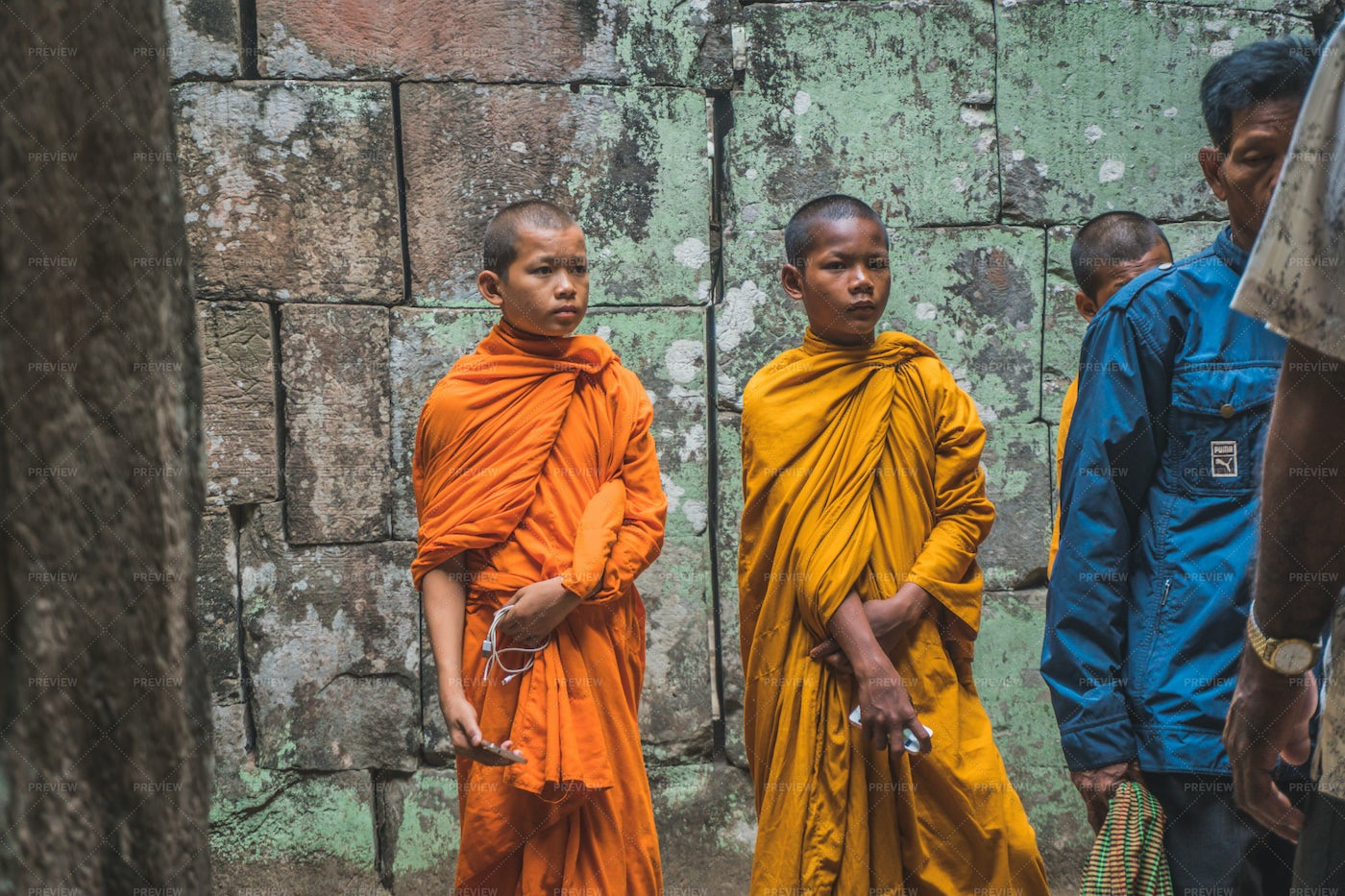 Young Buddhist Monks: Stock Photos
