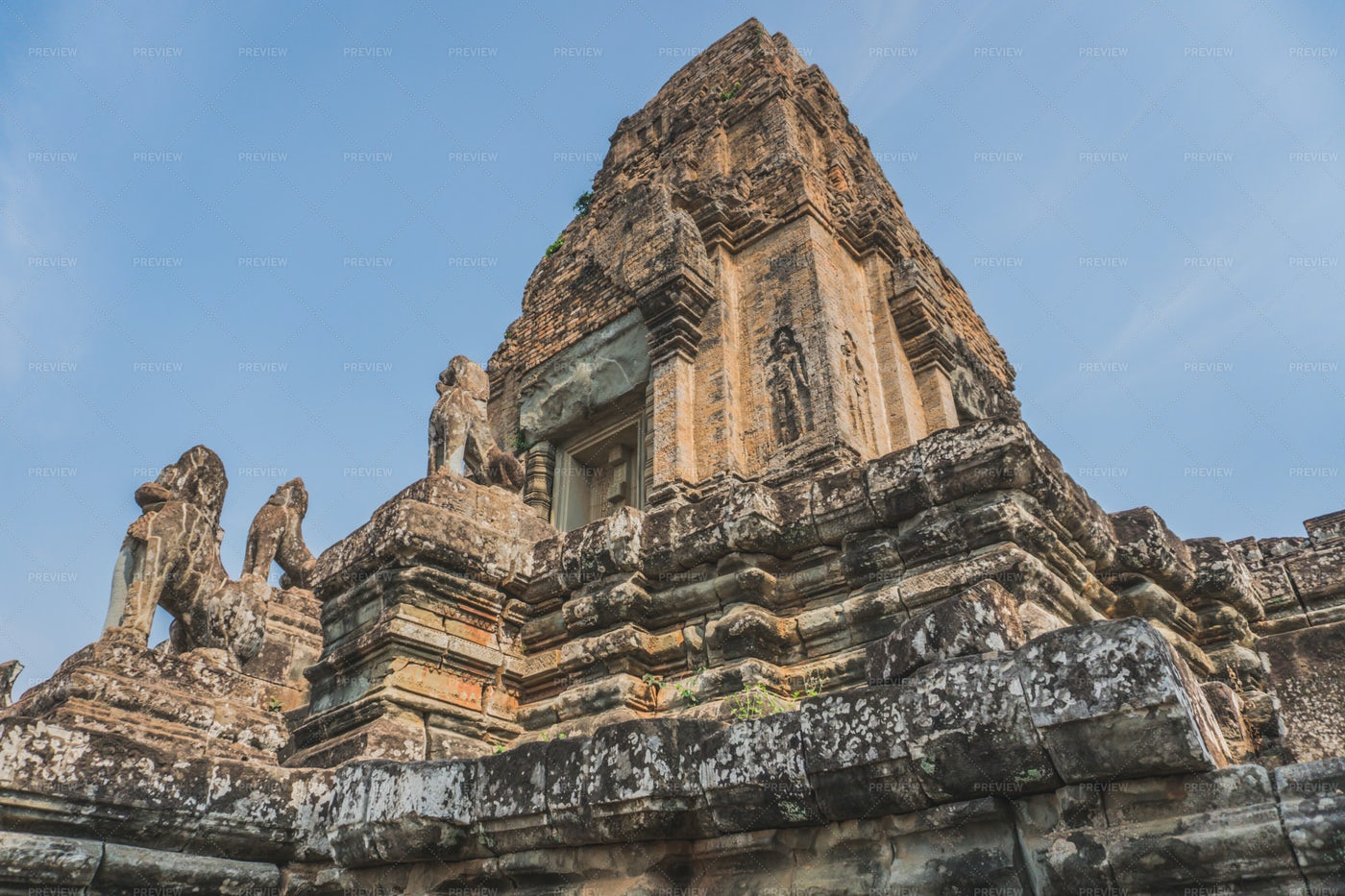 Pre Rup Temple Ruins: Stock Photos