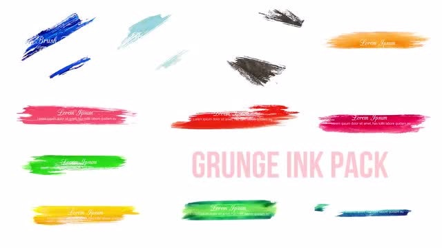 Grunge Ink Pack: Premiere Pro Templates