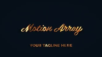 Gold And Leather Luxury Logo: After Effects Templates