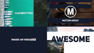 Dynamic Stomp Typography Slideshow: Premiere Pro Templates