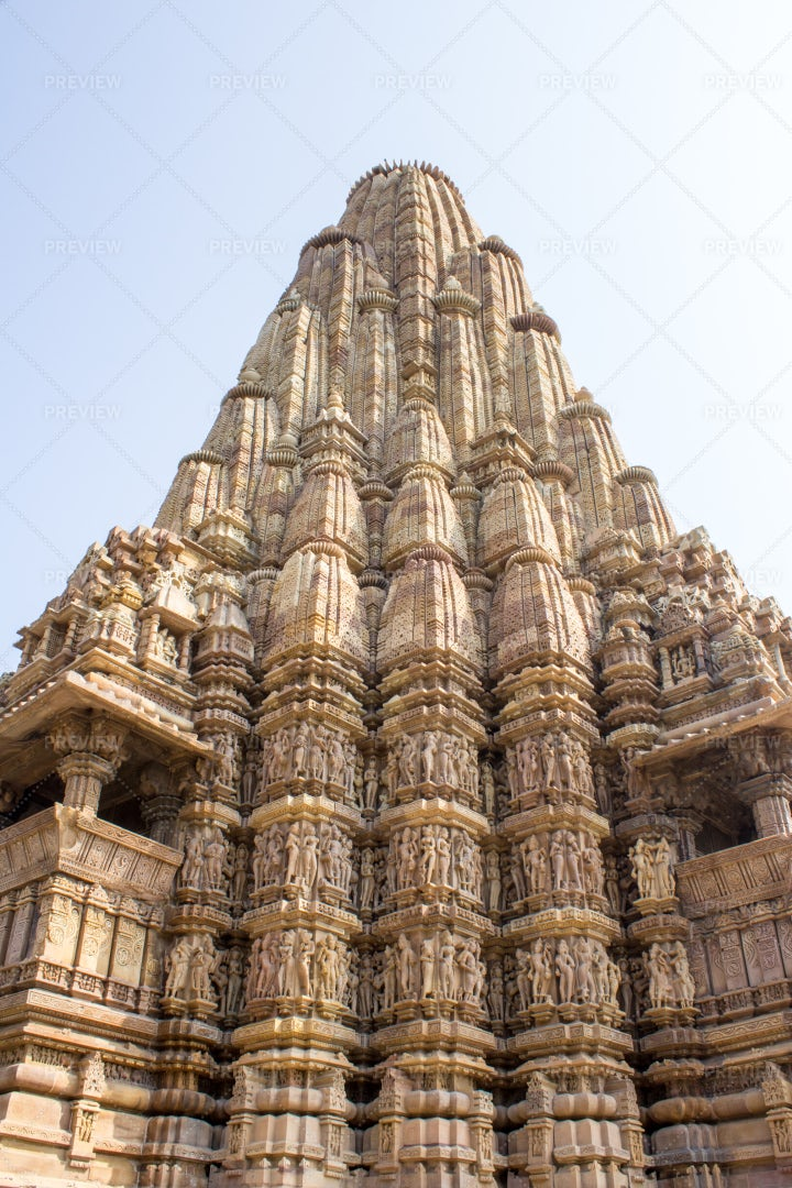 Khajuraho Monument Temple: Stock Photos