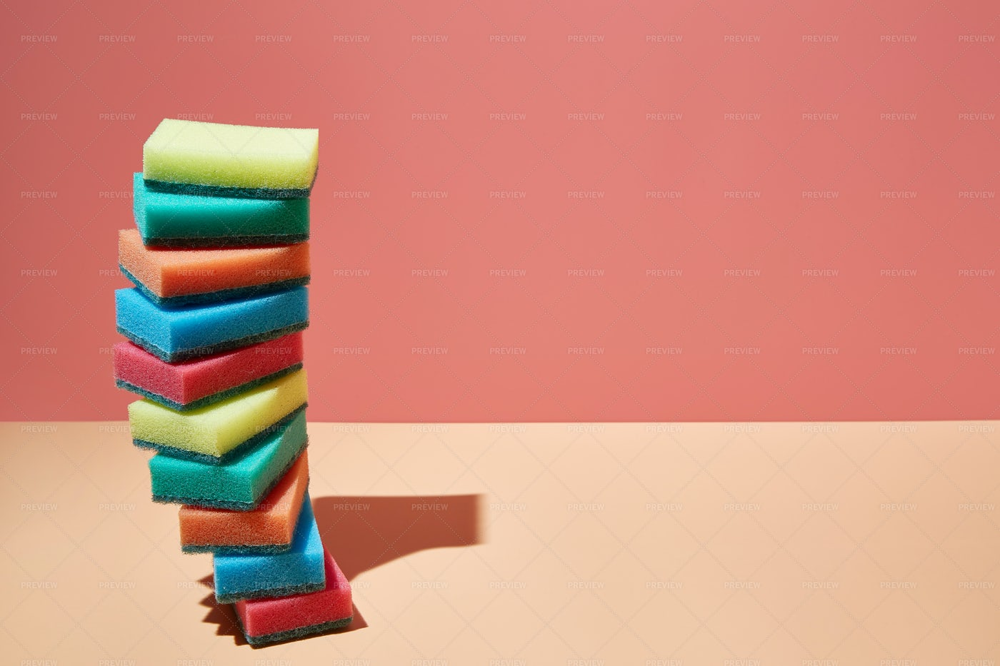 Stack Of Sponges: Stock Photos