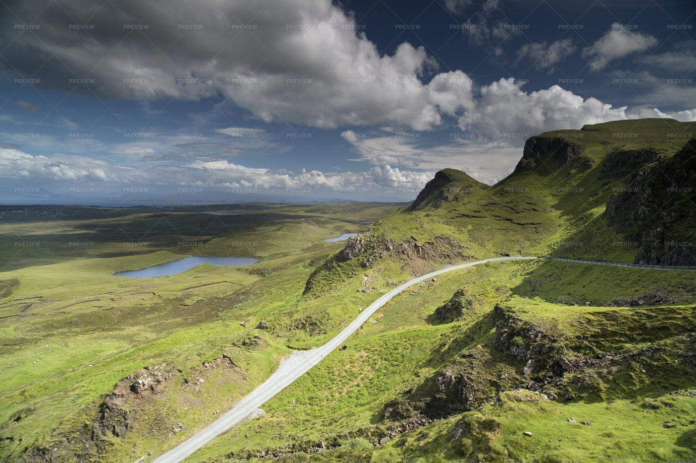 Isle Of Skye Mountains: Stock Photos