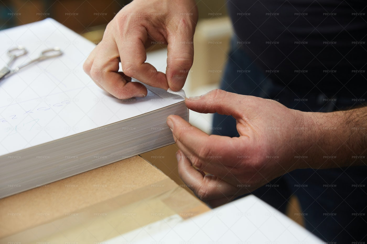 Binding Book Pages: Stock Photos