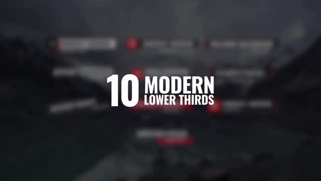 4K Modern Lower Thirds: After Effects Templates