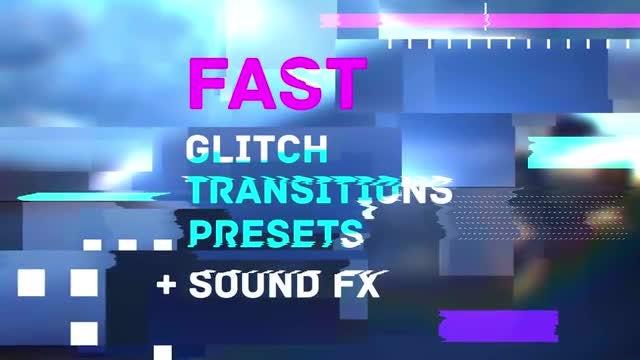 Fast Glitch Transitions Presets: Premiere Pro Presets