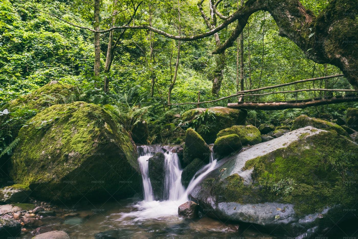 Little Waterfall: Stock Photos