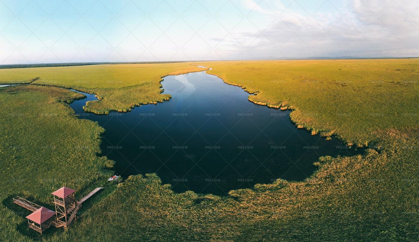 Aerial Lake View: Stock Photos