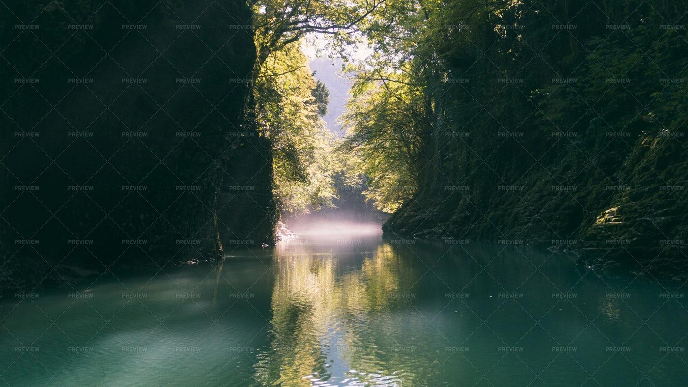 Nerrow Canyon And River: Stock Photos