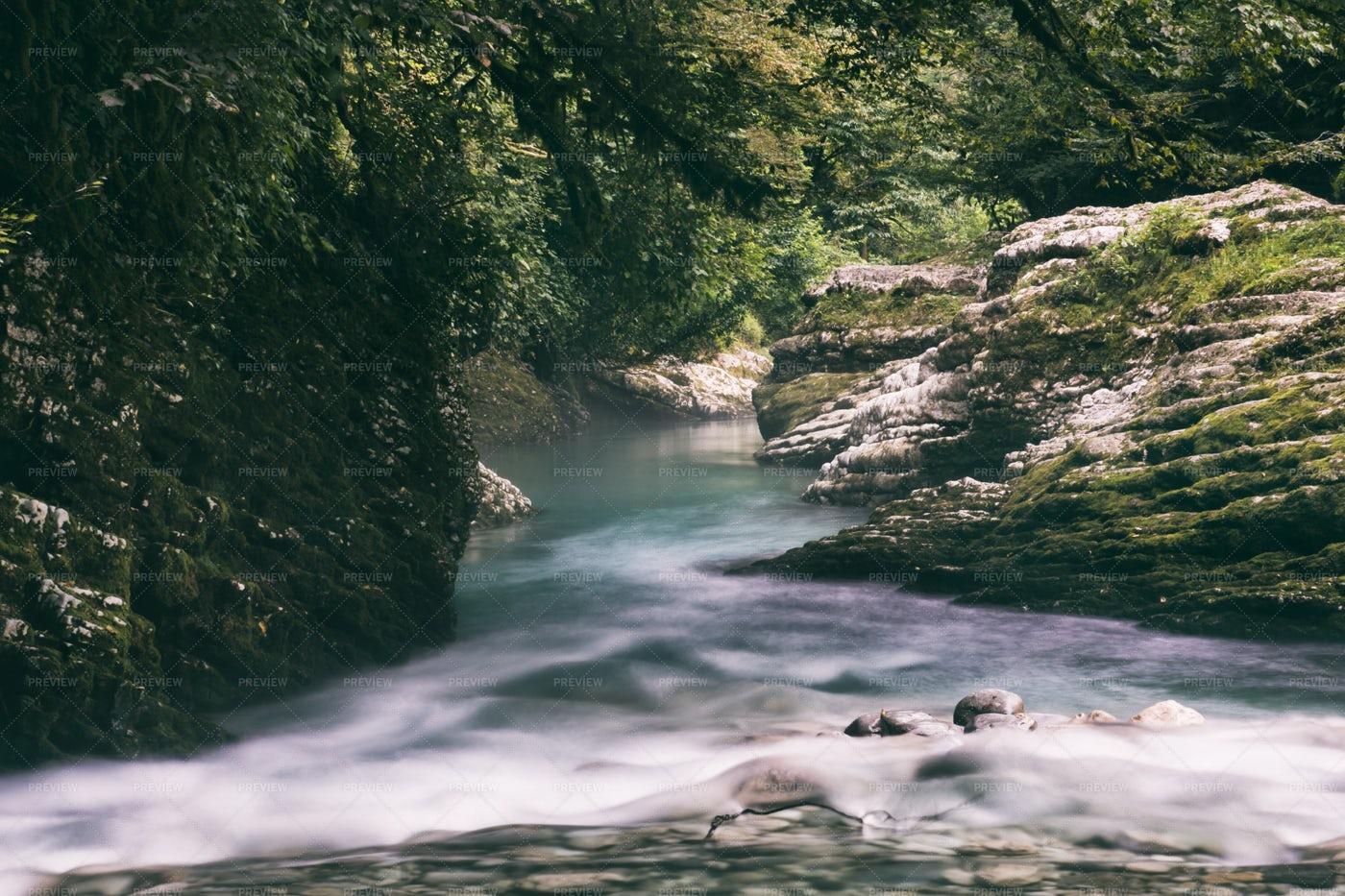 River In Canyon: Stock Photos