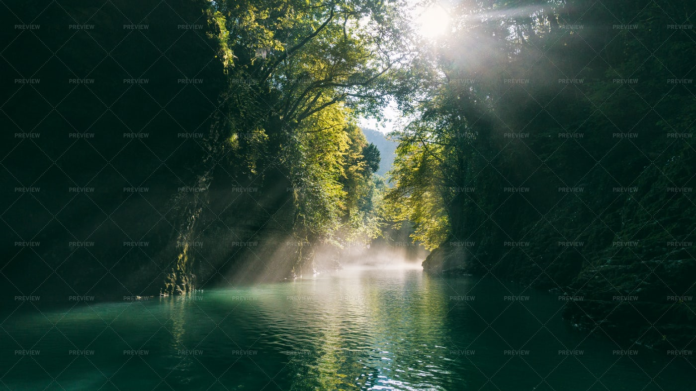 Sun And River: Stock Photos