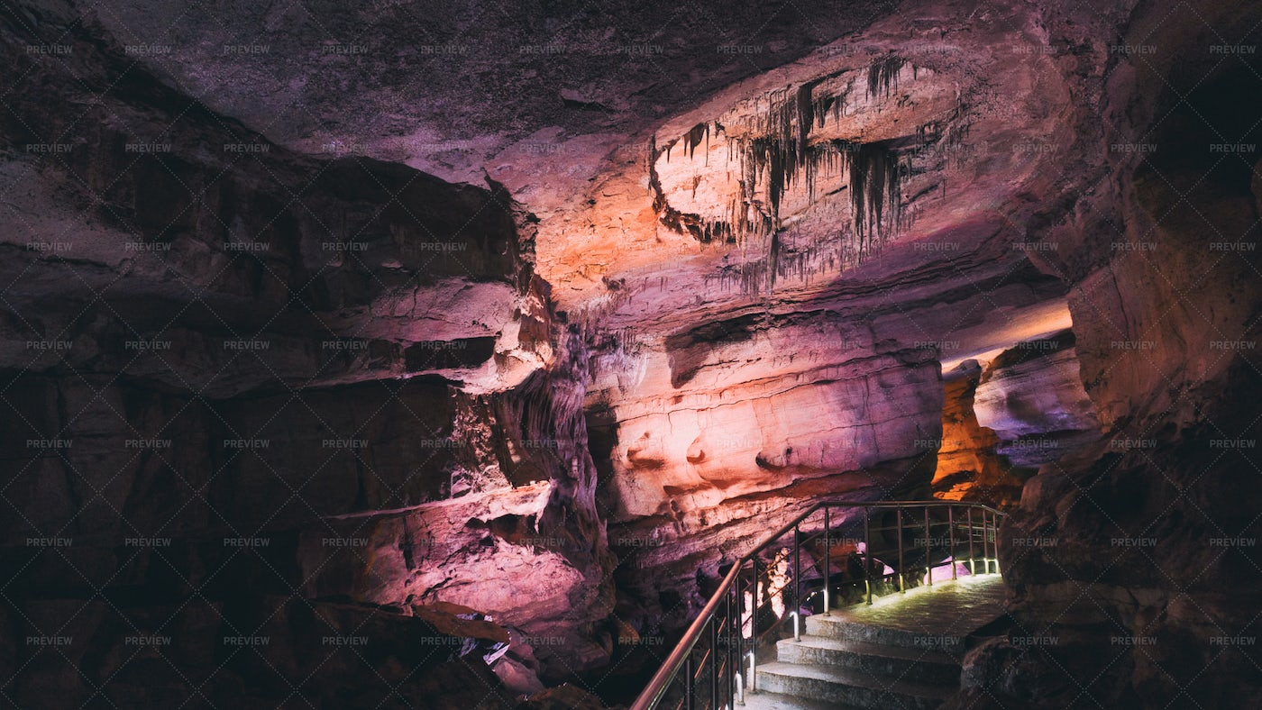 Cave And Lights: Stock Photos