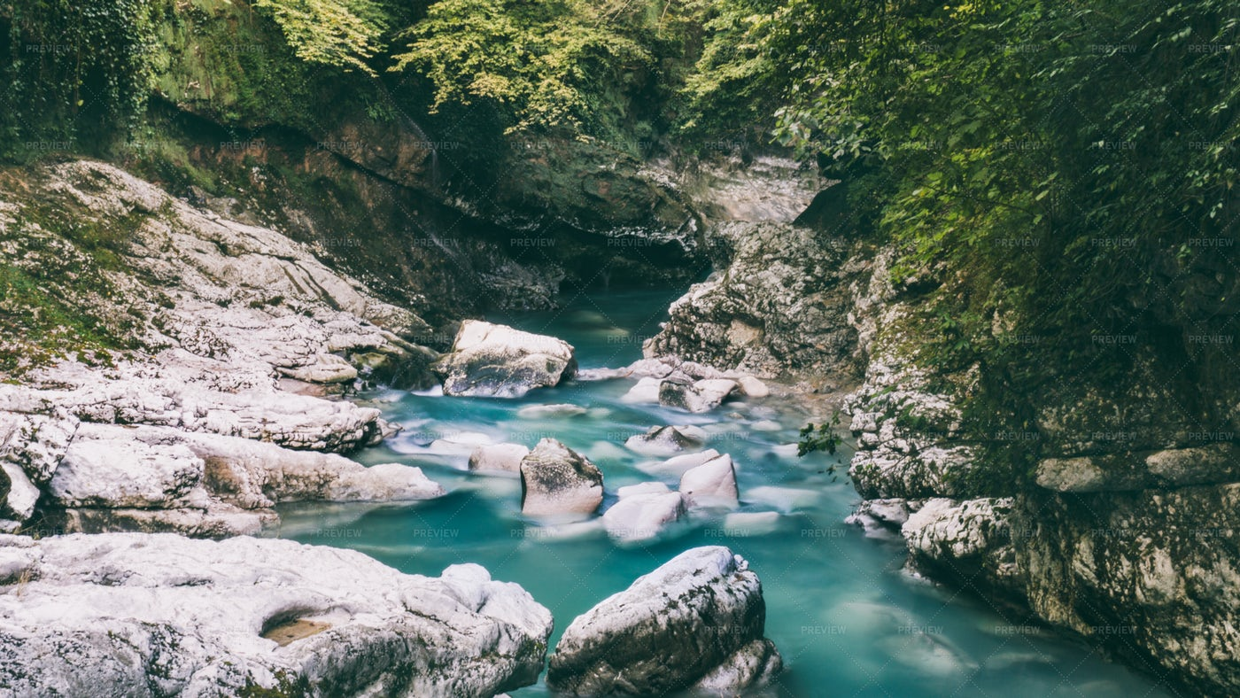 River And Stones: Stock Photos