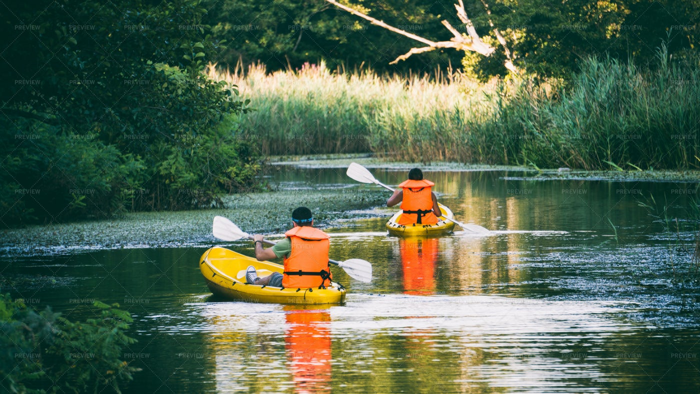 Kayakers In River: Stock Photos