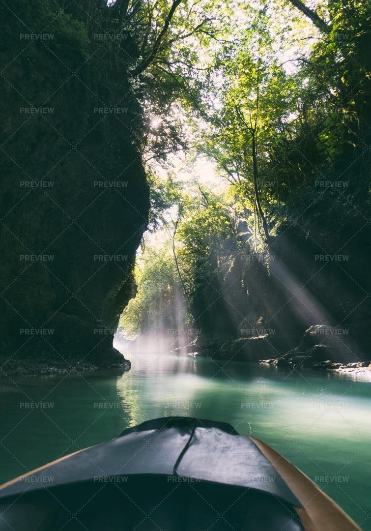 Sun Lights In Canyon: Stock Photos