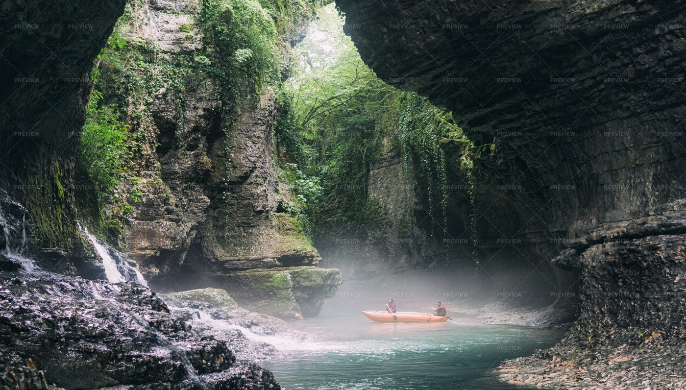Boat In Canyon: Stock Photos