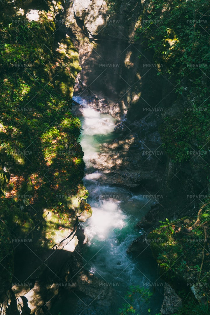 River Through The Canyon: Stock Photos