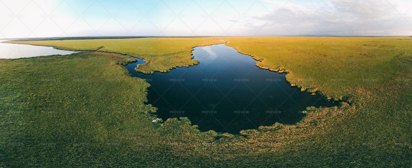 Aerial View Of Lake: Stock Photos