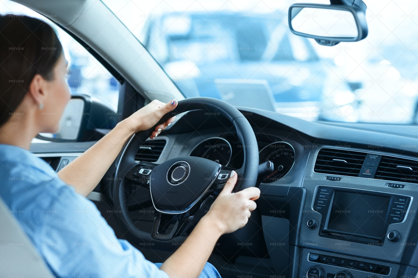 Holding The Steering Wheel: Stock Photos