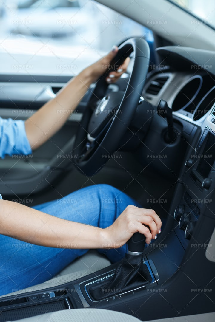 Woman Changing Gears: Stock Photos