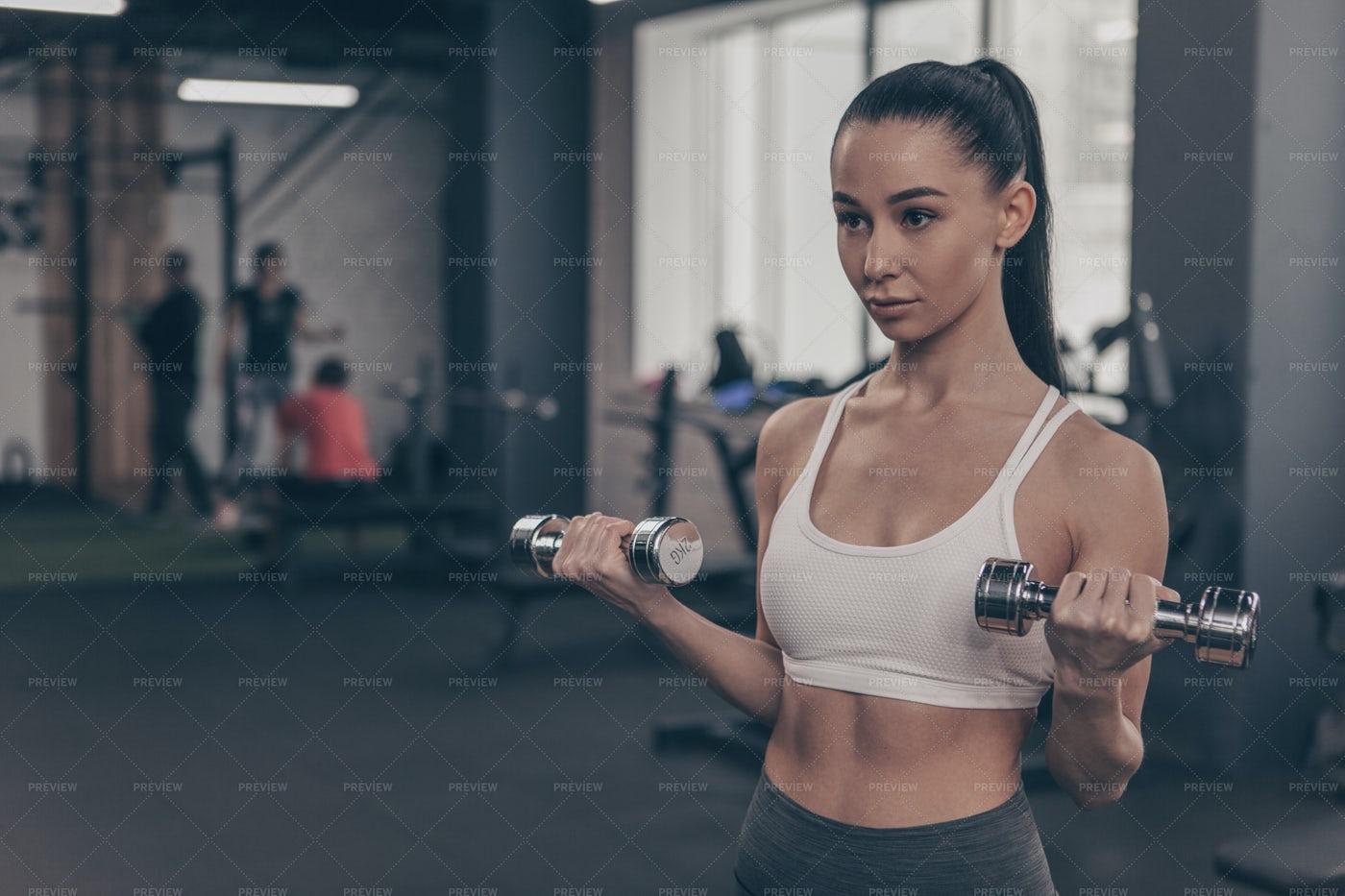 Fit Woman Exercising: Stock Photos